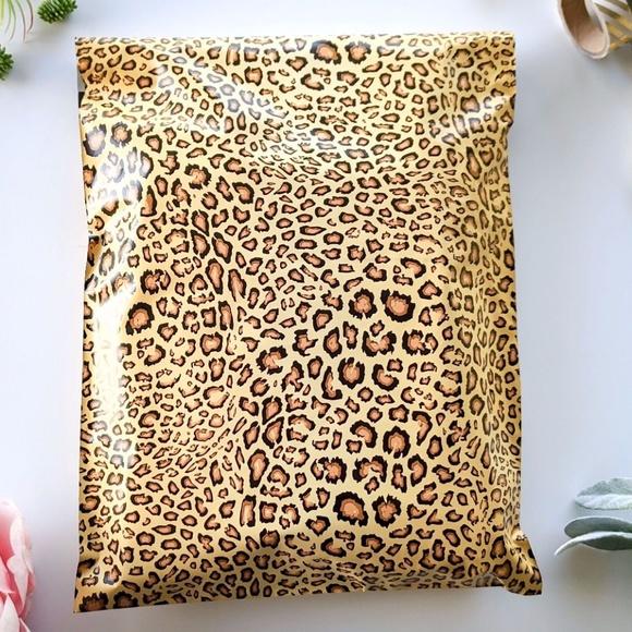 20 pieces 10x13 leopard designer poly mailer